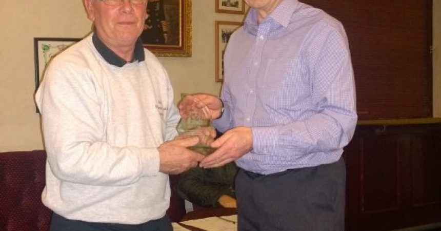 Award To Long Serving Committee Member At AGM On 23rd February