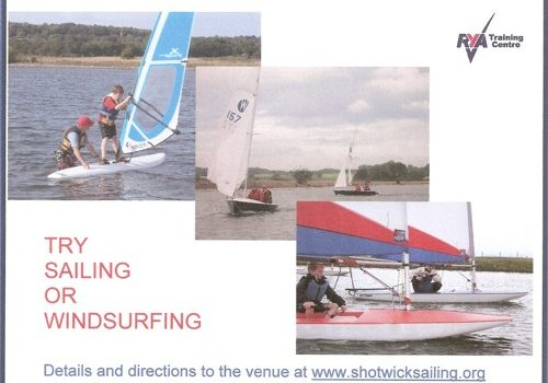 Have you ever considered having a go at dinghy sailing or windsurfing but never had the opportunity. Now is your opportunity – come down to Shotwick Lake on Saturday 11th […]