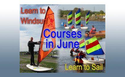 Learn to sail or windsurf in June