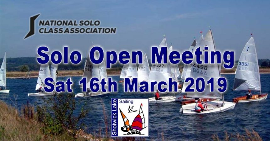 ** CANCELLED ** Solo Open Meeting 16th March 2019