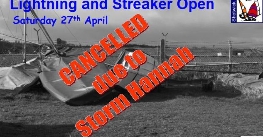 Lightning & Streaker Open Meeting CANCELLED
