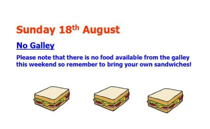 No Galley Sunday 18th August